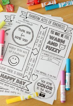 Random Acts of Kindness Day is February 17th. Print out a week of cute tags to color and hand out to brighten someone's day! Tuck everything inside of a box for a Random Acts of Kindness Kit. A fun activity for Girl Scouts, Activity Days, school and more! I work with the 8-11 year old girls at church and it is seriously so much fun. The program is called Activity Days and we meet twice a month on Wednesday nights for our activities. For one of our February activities we are making Random ...