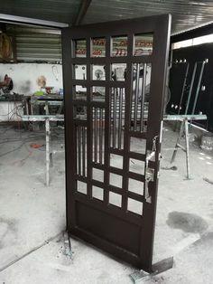 28 New Ideas Grill Door Design Gates Steel Gate Design, Front Gate Design, Main Gate Design, Door Gate Design, House Gate Design, Window Grill Design Modern, Grill Door Design, Window Design, Door Grill