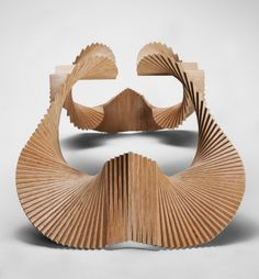 Vivian Chiu has designed Jaws, a sculptural piece made of wood.