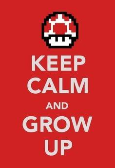 mario bros keep calm and.....