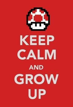 mario bros keep calm and.....