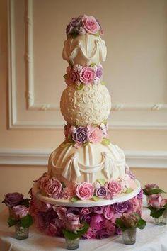 www.facebook.com/cakecoachonline - sharing....Fondant- The Wedding Cake Blog: Peggy Porschen Wedding Cake