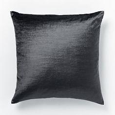 Cotton Luster Velvet Pillow Cover - Slate