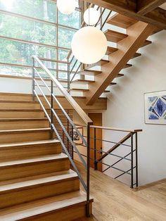 Mesmerizing modern custom home in British Columbia House Stairs British Columbia Custom home Mesmerizing Modern Indoor Railing, Modern Stair Railing, Stair Railing Design, Stair Handrail, Staircase Railings, Modern Stairs, Stairways, Staircase Ideas, Railing Ideas