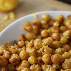 Easy Recipe: Simple Lemon Zest Roasted Chickpeas