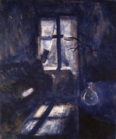 Night in Saint Cloud - Edvard Munch 1892. #art #arthistory #shadows #dark #sleep #insomnia
