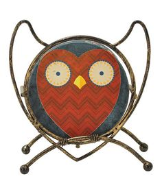 Another great find on #zulily! Red Owl Sandstone Coaster Set #zulilyfinds