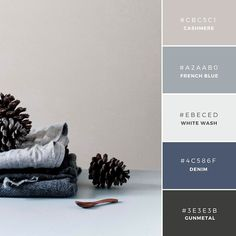 bedroom colors - Build Your Brand: 20 Unique and Memorable Color Palettes to Inspire You – Design School Palettes Color, Blue Colour Palette, Colour Schemes, Color Combos, Paint Combinations, Color Schemes With Gray, Grey Living Room Ideas Colour Palettes, Color Blue, Grey Colors
