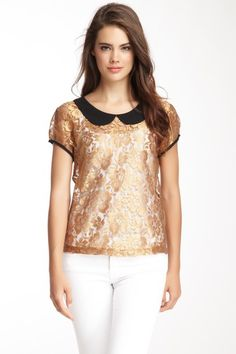 Woven Lace Top