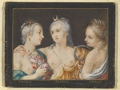 Heads of Goddesses (Flora, Diana, Ceres)   Anonymous, French   17th century  Date: ca. 1600  The Metropolitan Museum