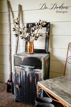 How To Add Patina To Furniture Without Fear #dododsondesigns #patina #paintedfurniture #furnituremakeover #fauxfinish #copperpatina