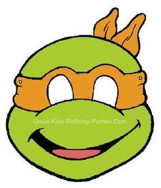 tortoise mask template - ninja turtle head template invitation templates