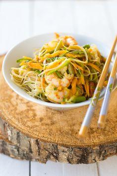 ricetta gluteen free, spaghetti di riso e verdure, salsa di soia