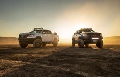 #SEMA Two More Extreme Chevrolet Colorado ZR2s Debut at SEMA. Off-road-ready Chevy show trucks roll into Vegas. #Cars #CarLaunch #AutoNews