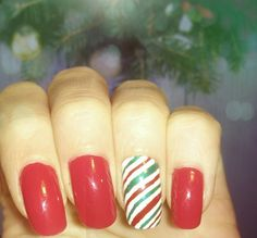 °Easy Christmas Idea Nail Art design°