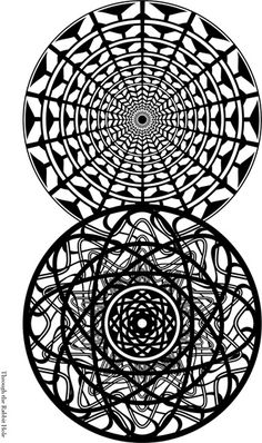 Through The Rabbit Hole Adult Coloring Page