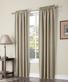 Look at this #zulilyfind! Taupe Parker Thermal-Lined Curtain Panel - Set of Two by S.L. Home Fashions #zulilyfinds