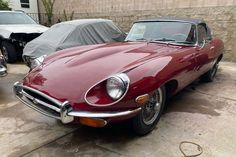This rust-free 1971 Jaguar E-Type Roadster has recently emerged from 33-years in hibernation. It looks like a straightforward restoration project. #EType, #Jaguar, #Roadster