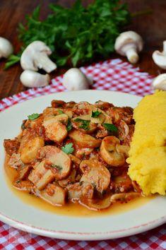 Italian Recipes, New Recipes, Vegan Recipes, Cooking Recipes, Mushroom Recipes, Vegetable Recipes, Romanian Food, Romanian Recipes, Yummy Food