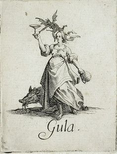 с.1621,The Seven Deadly Sins:Gluttony, Jacques Callot(France, Nancy,1592-1635). Los Angeles County Museum of Art.7 смертных грехов.Чревоугодие.