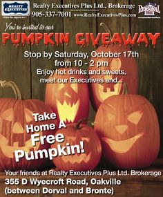 Mark Your Calendars! It's that Time of Year Again! Stop by for our 3rd Annual Pumpkin Giveaway! Say Hi, Enjoy some Treats & Jump Into the Fall Spirit!