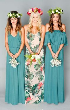 Mumu bridesmaid dresses Shop these styles (L-R): 1 / 2 / 3