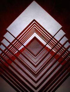 escultura aço oxidado - origami arquitetonico by rosy papatella\detalhe