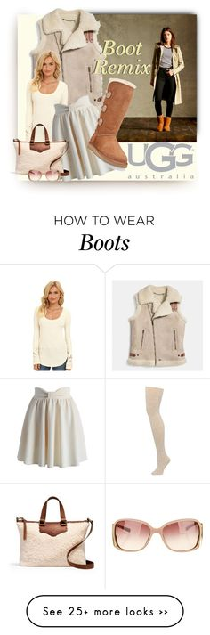 """""""Boot Remix with UGG: CHALLENGE PARTNER Contest Entry"""" by lovelyblk on Polyvore featuring M&Co, UGG Australia, Coach, Free People, Chicwish and Dolce&Gabbana"""