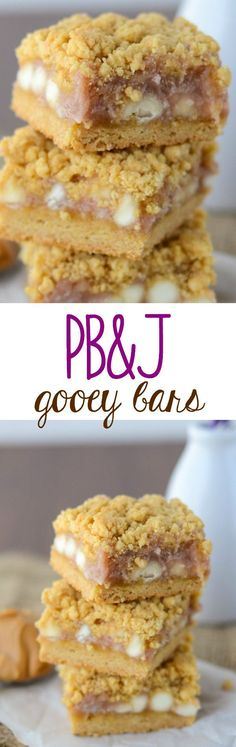The BEST after school snack: PB&J Gooey Bars! Easy bars full of peanut butter and jelly!