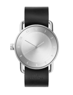 The is the second watch by Form Us With Love for Swedish brand TID Watches. It features a stainless steel case and natural leather strap. Natural Leather, Tan Leather, Dezeen Watch Store, Display Block, Leather Wristbands, Face Design, Stainless Steel Case, Watches For Men, Women's Watches