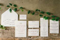 Rustic Elegance Letterpress Wedding Invitations