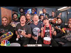 "Jimmy Fallon, Metallica & The Roots Sing ""Enter Sandman"" (Classroom Instruments) - YouTube"