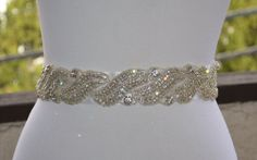 Wedding BeltBridal SashBest SellerUnique by SilverBridals on Etsy, $87.00