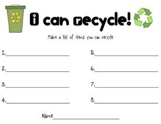 Reduce, Reuse, Recycle! - Earth Day Activity | Reduce reuse ...