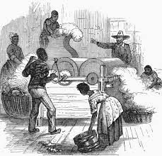 Slaves who worked on the production of cotton had the duty of separating the seeds from the fiber of cotton. Eli Whitey invented the cotton gin which was a machine that made it easier to separate the cotton seeds from the fiber. the act of this machine made slaves life's easier.