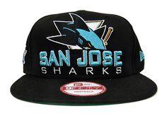 New Era 9FIFTY San Jose Sharks Black Small-Medium Snapback