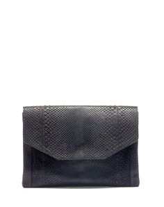 Lanvin Sartorial envelope pochette in black python. Lanvin, Python, Purses And Bags, Envelope, My Style, Womens Fashion, Leather, Men's Accessories, Hand Bags