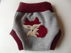 Wool Diaper Cover Soaker with Fox  Made to by smallwonderwoolies, $18.00
