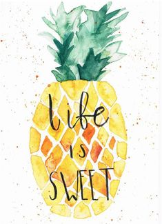 Pin by ayesha safwah on wallpaper quotes in 2019 Cute Wallpaper Backgrounds, Pretty Wallpapers, Wallpaper Quotes, Iphone Wallpaper, Pineapple Wallpaper, Pineapple Art, Pineapple Quotes, Pineapple Watercolor, Pineapple Painting