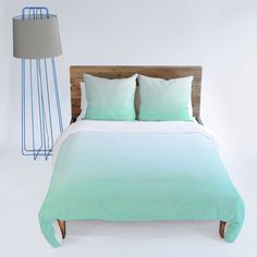 Social Proper Mint Ombre Duvet Cover - I really really really want this one.but its too expensive! Bedroom Green, Dream Bedroom, Bedroom Decor, Hotel Bedroom Design, Bedroom Ideas, Bed Sets For Sale, Bed Styling, Cool Beds, My New Room