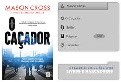 Livros e marcadores: O Caçador de Mason Cross