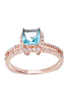 Sterling silver, CZ Princess Ring