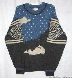 IVANHOE Mens 100% Hand Knit Shetland Wool Sweater Size M (Chest 44) Nordic | eBay