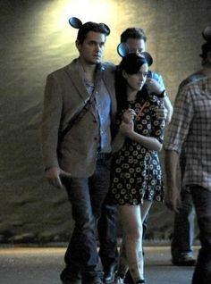 John Mayer and Katy Perry in Disneyland