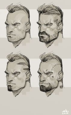 Borislav Mitkov - Illustration/Concept Art: Character face ideation