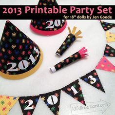 2013 printable party set for dolls