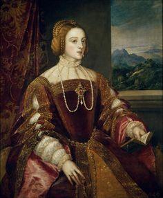 En 1526 #CarlosV se casó con su prima Isabel de Portugal pintada por #Tiziano.