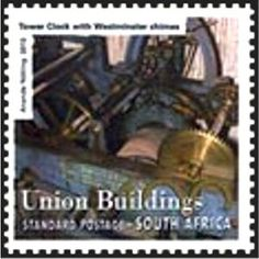 Stamp: Tower Clock (South Africa) (Union Building Centenary) Tower Clock, Towers, South Africa, Stamp, Building, Tours, Stamps, Buildings, Tower