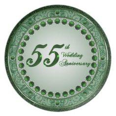 55th Wedding Anniversary Invitation Damask 55th Wedding