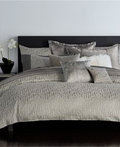 Donna Karan Home Fuse Bedding Collection - Bedding Collections - Bed & Bath - Macy's Bedroom Comforter Sets, Bedding And Curtain Sets, Matching Bedding And Curtains, Cheap Bedding Sets, Bedding Sets Online, Queen Bedding Sets, Luxury Bedding Sets, Queen Duvet, King Duvet